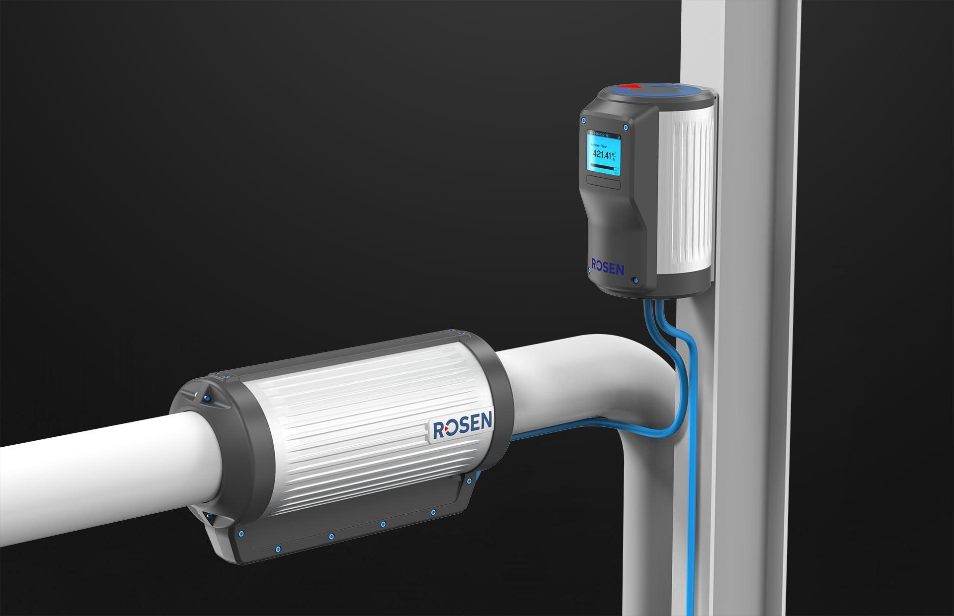 Rosen Flowmeter Sensor Industriedesign