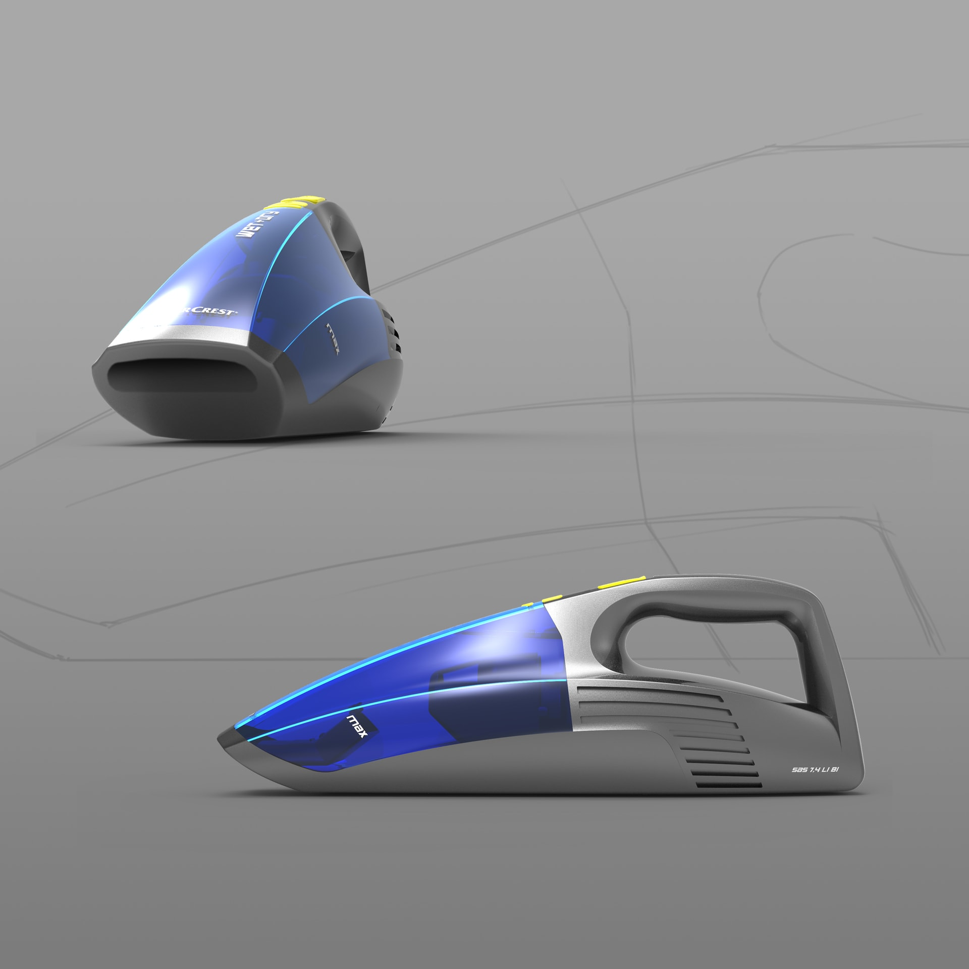 Silvercrest_Vacuum_Cleaner_Industriedesign
