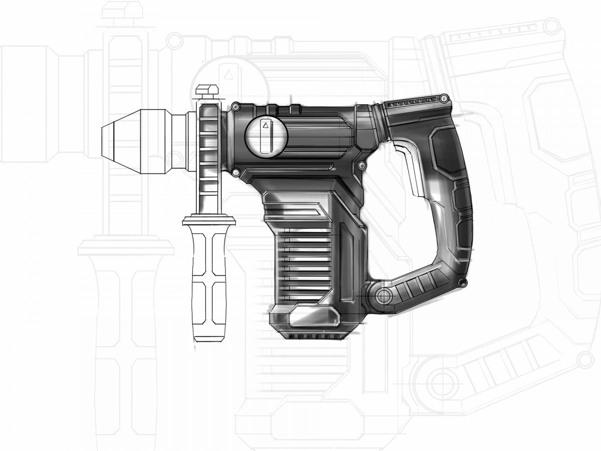 parkside_hammer_heavy_duty_industrialdesign_projekter_design_sketch